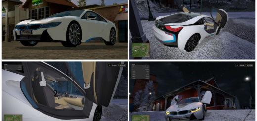 Мод авто BMW i8 v 1.0 Farming Simulator 2017
