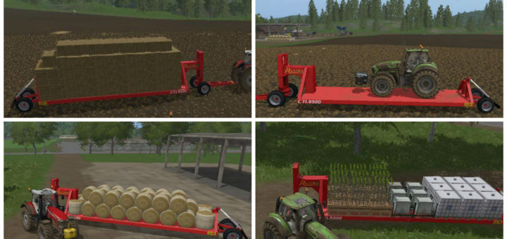 Мод прицеп Board CTI 8500 AutoLoad v 1.0 Farming Simulator 2017
