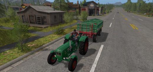 Мод трактор Deutz D 80 v 1.2.0 Verdec Farming Simulator 17