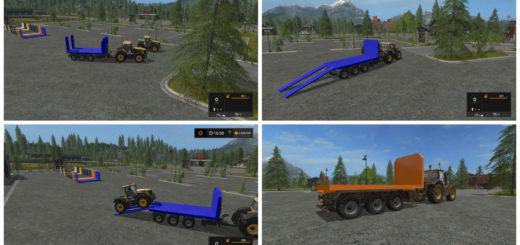 Мод прицеп Empty Platform v1.1 Farming Simulator 2017