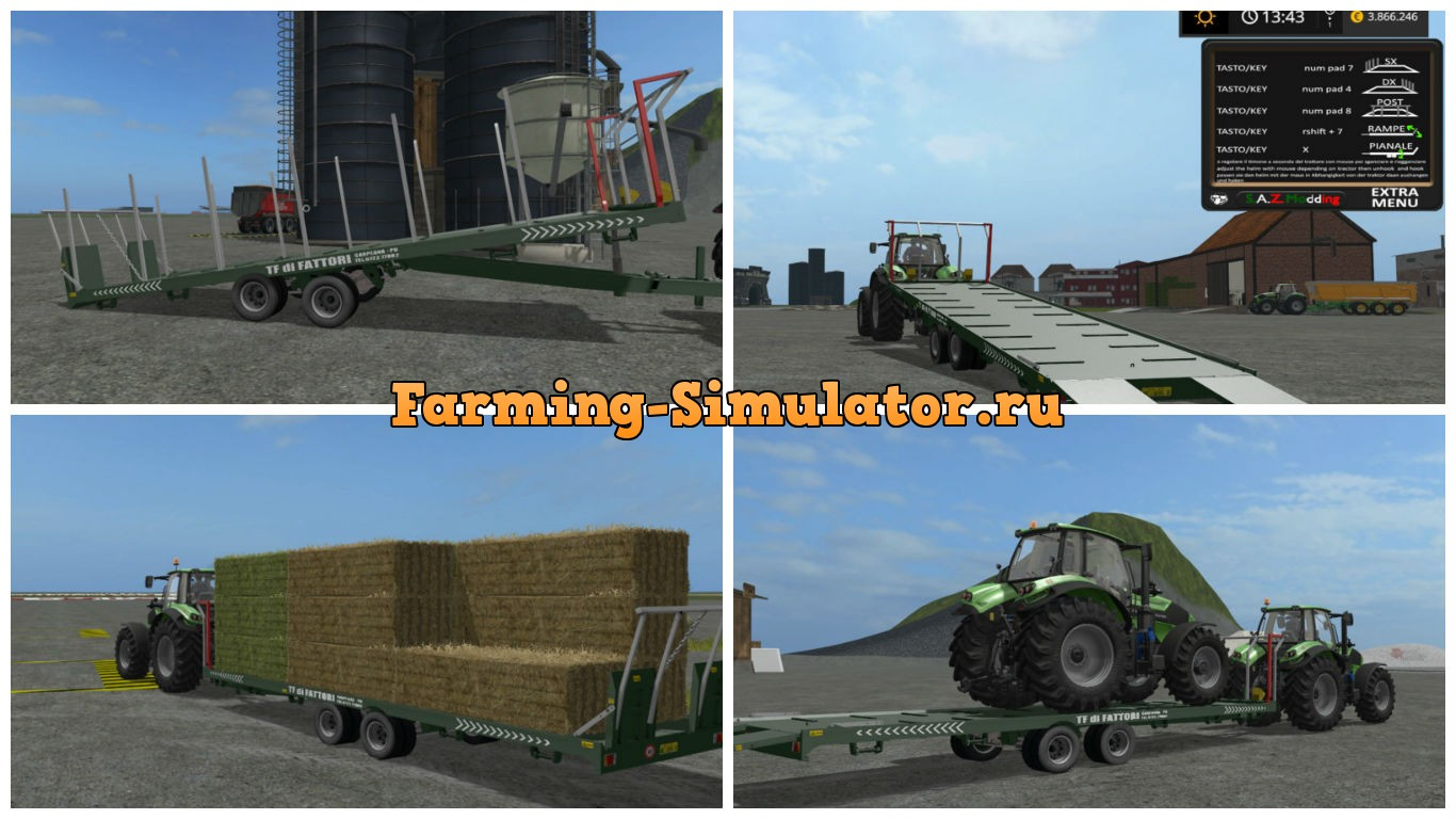 Мод прицеп Fattori TF 1140 BP v1.0 Farming Simulator 17