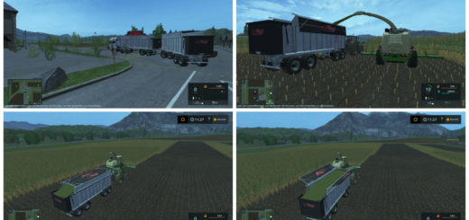Мод прицеп Fliegl 4-axle tipper v1.0 Farming Simulator 2017