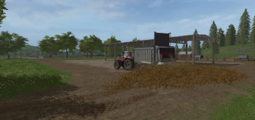 Мод прицеп Fliegl Manure spreader v 2.0.0.0 Farming Simulator 17