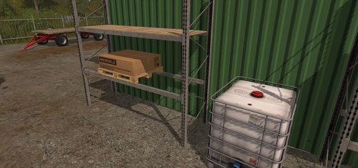 Мод стеллажи High Level Rack v1.0 Farming Simulator 2017