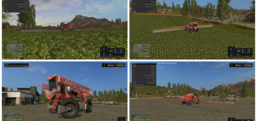 Мод опрыскиватель JACTO UNIPORT 3030 V1.1.0.0 Farming Simulator 2017
