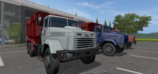 Мод грузовик Краз 65055 v 1.0.0.0 Фарминг Симулятор 2017