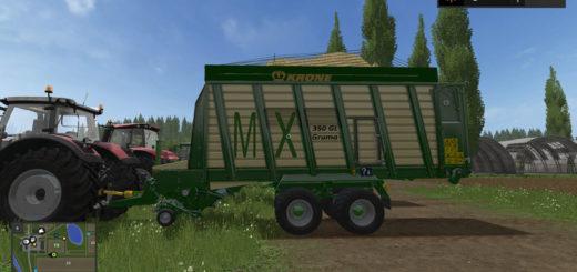 Мод прицеп Krone MX 350 GL v 1.0 FS 17