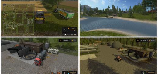 Мод карта PINE COVE v1.0 Farming Simulator 17