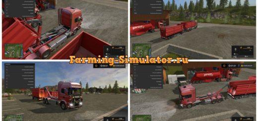 Мод грузовик Scania V8 HKL v 1.0.1.0 FS 17