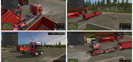 Мод грузовик Scania V8 HKL v 1.0.0.0 Farming Simulator 17