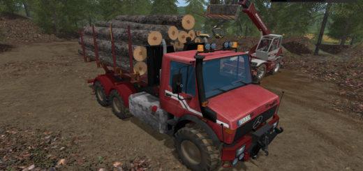Мод грузовик Unimog Wood V 1.0wsb Farming Simulator 2017