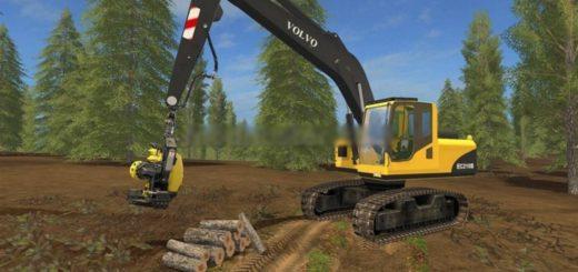Мод Volvo EC210B Forest v 1.0 Farming Simulator 17