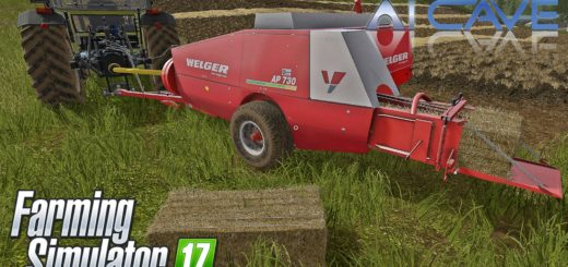 Мод тюкопресс Welger AP 730 V1.0 Farming Simulator 2017