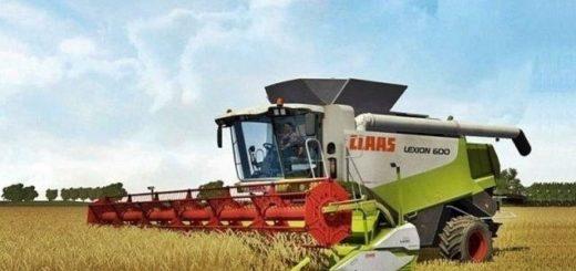 Мод комбайны CLAAS LEXION 600,580 V 1.0 Farming Simulator 2017