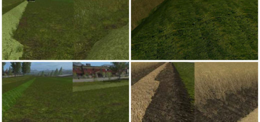 Текстуры Real Grass Hay straw V 1.0 Farming Simulator 17