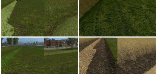 Текстуры Real Grass Hay straw V 1.0 Farming Simulator 17