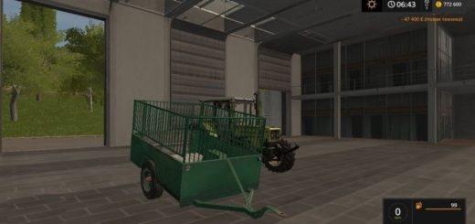 Мод прицеп Dwukolka v 1.0 Farming Simulator 2017