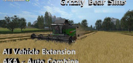 Мод скрипт Автокомбайн и Автотрактор AI Vehicle Extension v 0.3.1.3 Farming Simulator 17