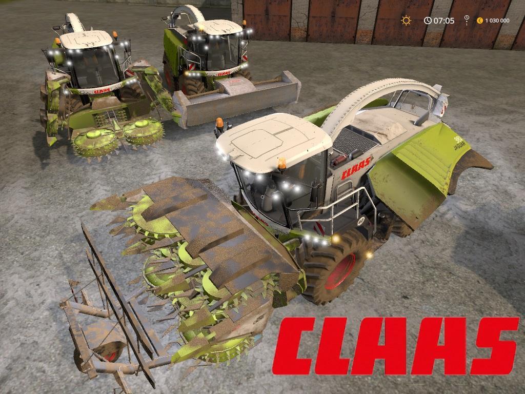 Мод комбайн Claas Jaguar 900 v 1.0 Farming Simulator 17