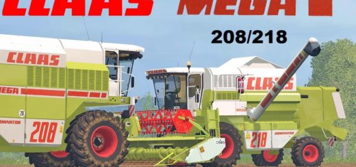 Мод комбайн Claas Mega 208 v 1. Farming Simulator 17