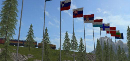 Мод ПАК флагов Flagpack v 2.2 Farming Simulator 17