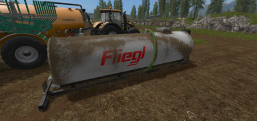 Мод бочки Fliegl Hookliftbarrel v1.0 Farming Simulator 2017