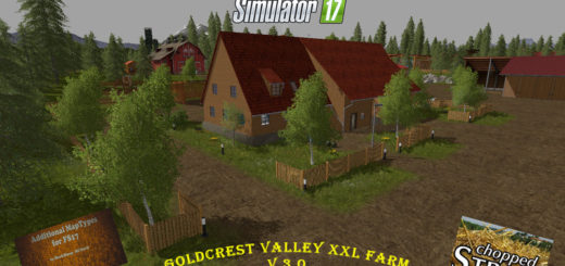 Мод карта Goldcrest Valley XXL Hof V 3.0 Farming Simulator 2017