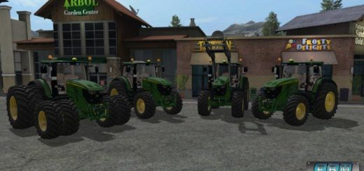 Мод трактор JOHN DEERE 6R PUMA V1.0 для Farming Simulator 17