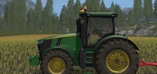 Мод трактор John Deere 7R v 2.0 Farming Simulator 17