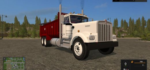 Мод грузовик Kenworth W900A Manure Spreader v 1.0 Farming Simulator 17