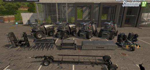 Мод ПАК KRONE BIG X BLACKBEAUTY PACK V1.0 Farming Simulator 17