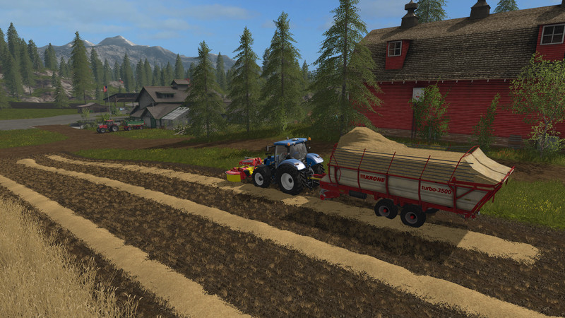 Мод прицеп Krone Turbo 3500 v 1.0 Farming Simulator 17
