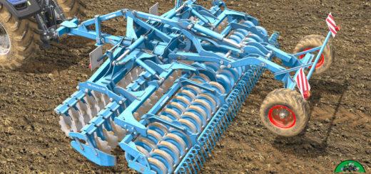 Мод культиватор Lemken Heliodor 9/600 KA v 1.2.0.0 Farming Simulator 17
