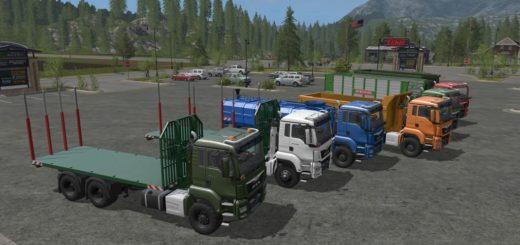 Мод грузовик MAN TGS ITRunner v 1.0 Farming Simulator 17