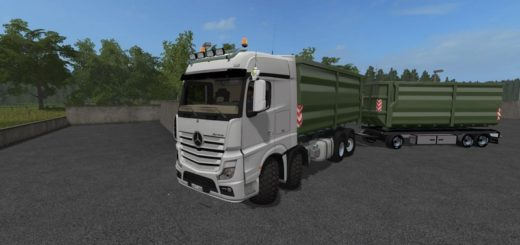 Мод грузовик Mercedes Benz Actros MP4 8x8 IT Runner v 2.0 Farming Simulator 17