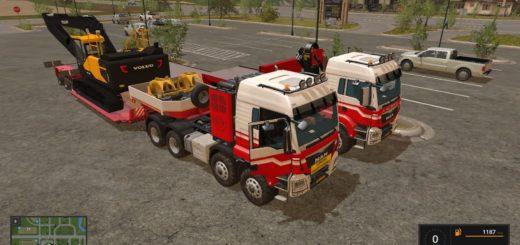 Мод грузовики NLD Helmer MAN 8x8 Heavy v 1.0 Farming Simulator 17