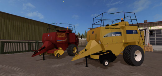 Мод тюкопрессы New Holland BB980 v 2.1 Farming Simulator 17