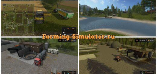 Мод карта PINE COVE v1.4 Farming Simulator 2017