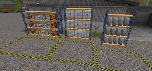 Мод Placeable Refill Storage Rack v 1.0 Farming Simulator 17