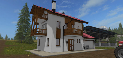Мод Residential house with garages v 1.0 Farming Simulator 2017
