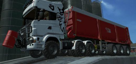 Мод тягач Scania Agro Truck v 2.0 Farming Simulator 2017