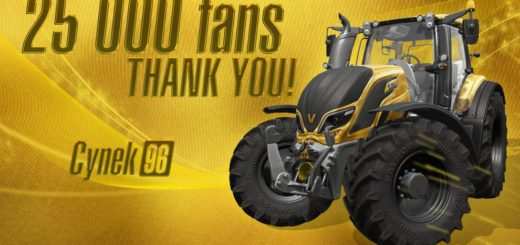 Мод трактор VALTRA T SERIES GOLD EDITION v1.0 Farming Simulator 17