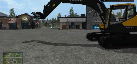 Мод экскаватор Volvo EC300E v 1.0 Farming Simulator 17