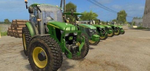Мод трактор John Deere 5M Series v 3.0 Farming Simulator 2017