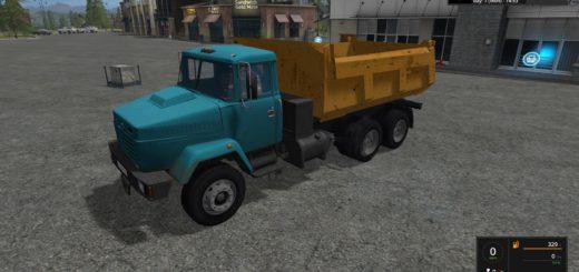 Мод грузовик КРАЗ KrAZ 6510 v 1.0 Фермер Симулятор 2017
