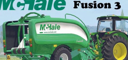 Мод тюкопресс McHale Fusion 3 Baler Wrapper Combo v 1.1.0.0 Farming Simulator 2017