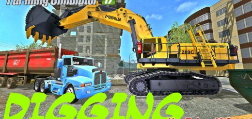 Мод экскаватор CAT 289C EXCAVATOR V1.0 Farming Simulator 2017