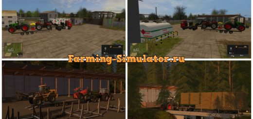 Мод трал Flatbed low loader v 1.1.0.2 Farming Simulator 17