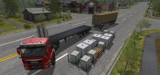 Мод прицеп Fliegl Flatbed Autoload v5.0 Автозагрузка Farming Simulator 17