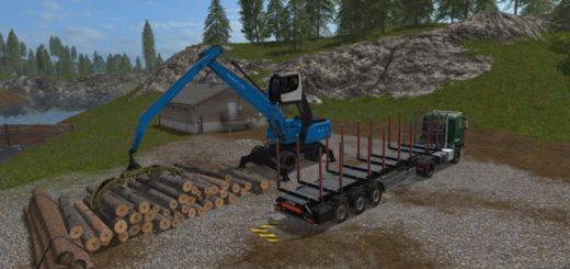Мод погрузчик Fuchs MHL 350 Farming Simulator 17